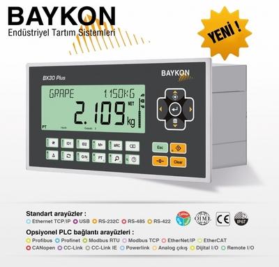 Baykon'dan Proses uygulamalarında Ağırlık ve Kuvvet ölçümü için yeni ufuklar; BX30 Plus / BX30D Plus