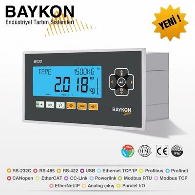 Baykon'dan, Proses Kontrol Ve Kuvvet Ölçümü İçin Yeni, Gelişmiş Tartım İndikatörleri; BX30 /BX30D